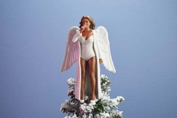 당신의 크리스마스 트리 위에 3D로 출력된 비욘세를 올려보세요!